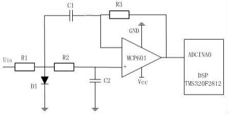 附图说明   图i为本发明一种直线位移传感器原理图;   图中:1,电源